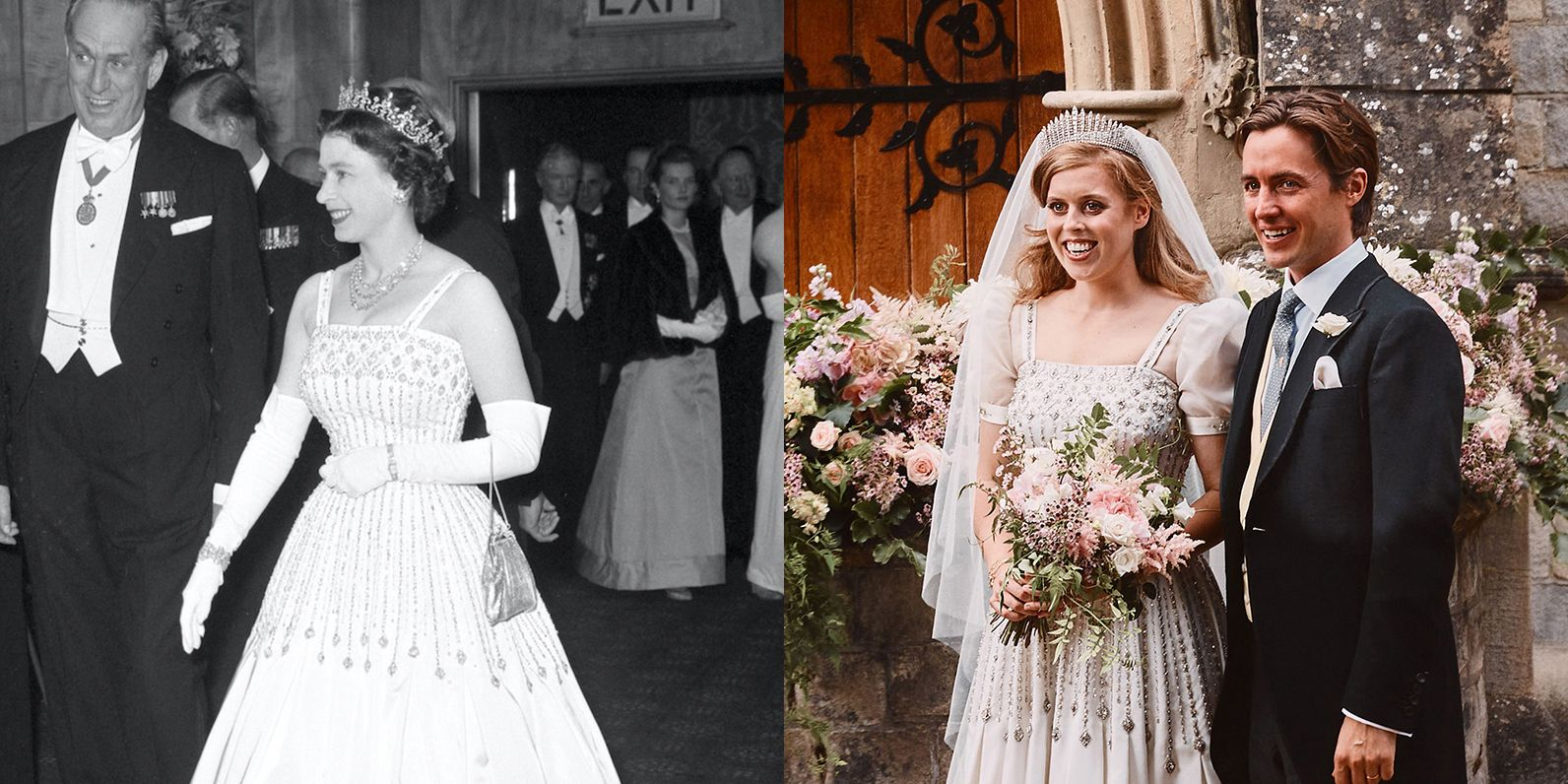 Princess Beatrice S Wedding Dress Details Queen S Vintage Gown