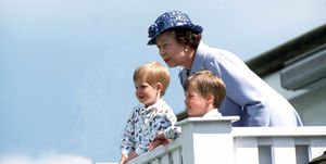 Queen Elizabeth Prince William Prince Harry