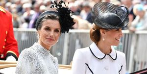Queen Letizia and the Duchess of Cambridge at Order of the Garter service