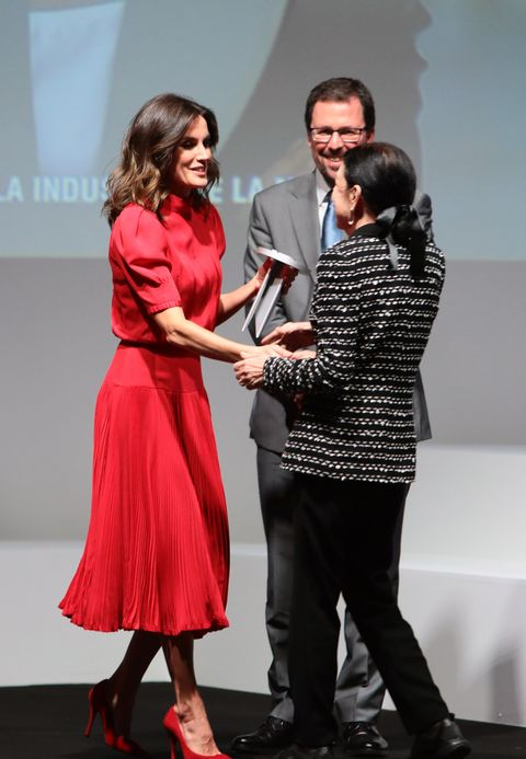 a2df034192 Queen Letizia of Spain Attends National Fashion Awards