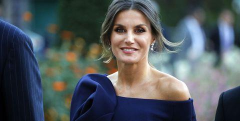 "king felipe of spain and queen letizia of spain attend the ""miro, la couleur des reves"" exhibition at grand palais in paris"