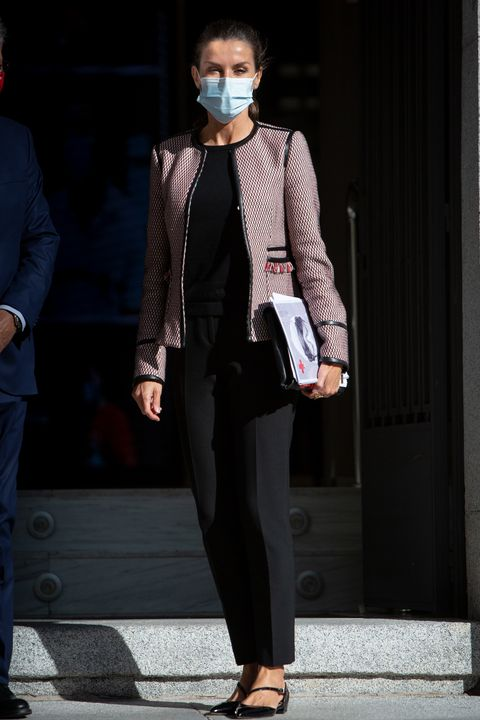 queen letizia of spain attends a meeting with red cross spain
