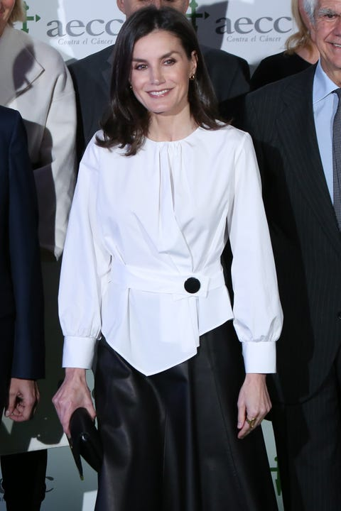 Queen Letizia Of Spain Attends A Forum Against Cancer In Madrid