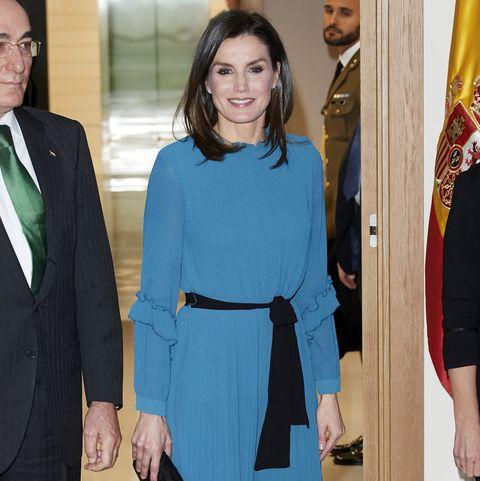 Queen Letizia Of Spain Attends Ibedrola Foundation Scholarships