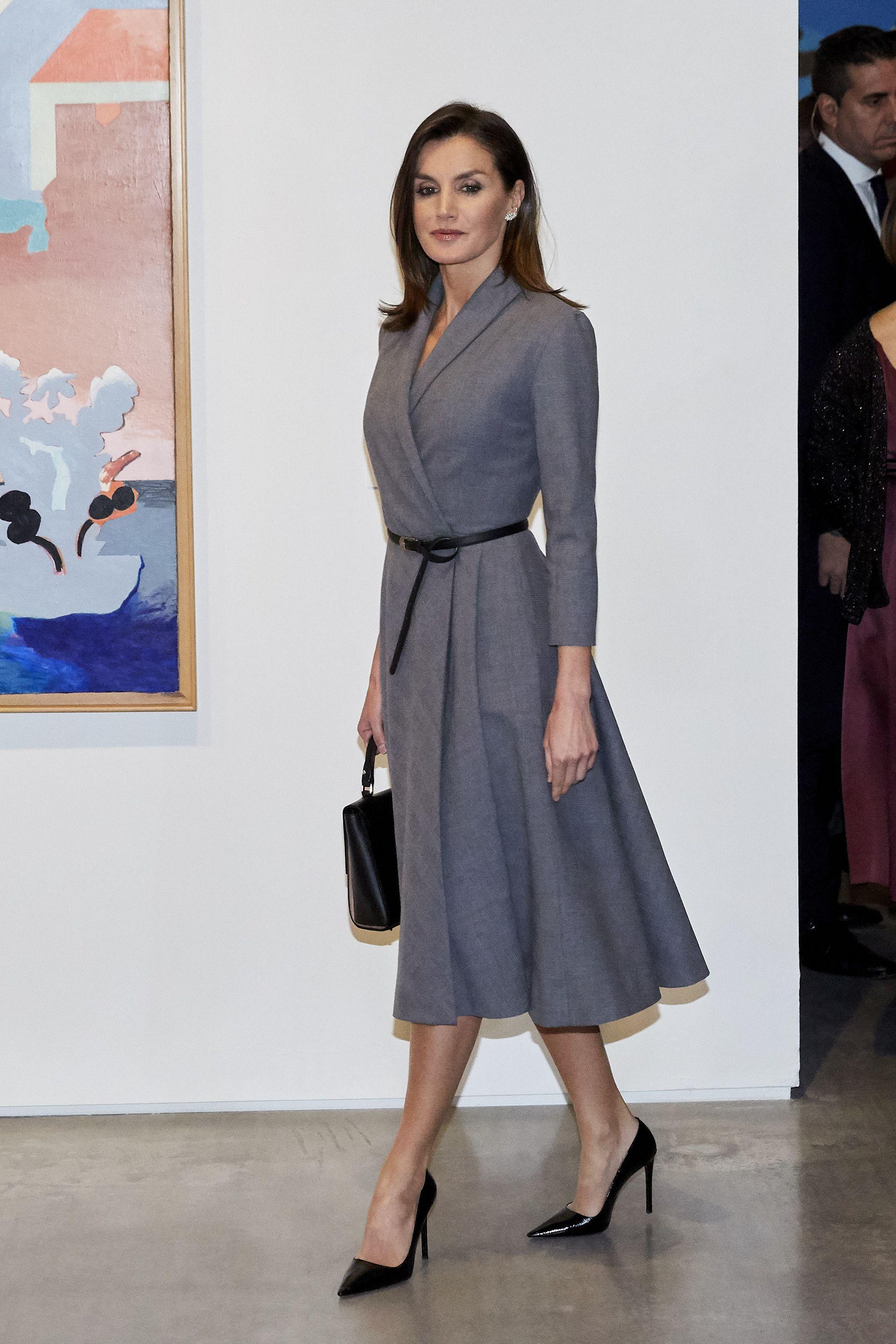 Queen Letizia Ortiz of Spain attending 'Poeticas de la...
