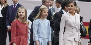 Spanish Royal Family Mark Spain's National Day In Madrid