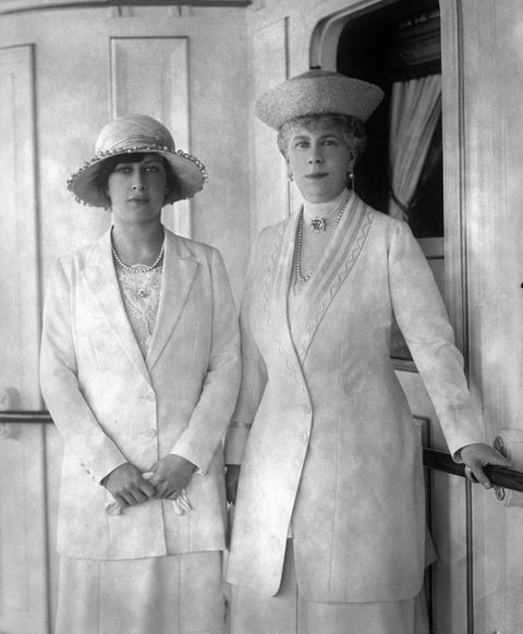 Royalty - Queen Mary and Princess Mary - Cowes