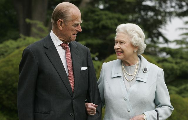 hampshire, england   undated in this image, made available november 18, 2007, hm the queen elizabeth ii and prince philip, the duke of edinburgh re visit broadlands,  to mark their diamond wedding anniversary on november 20 the royals spent their wedding night at broadlands in hampshire in november 1947,  the former home of prince philips uncle, earl mountbatten photo by tim grahamgetty images