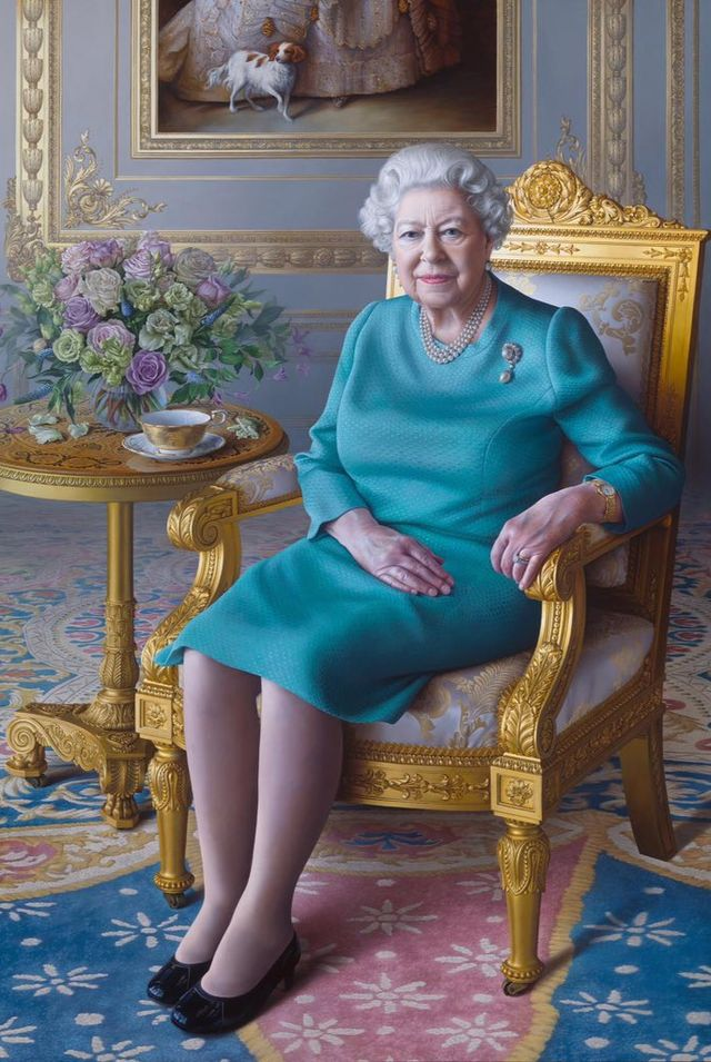 queen views unveiling of new royal portrait via videocall