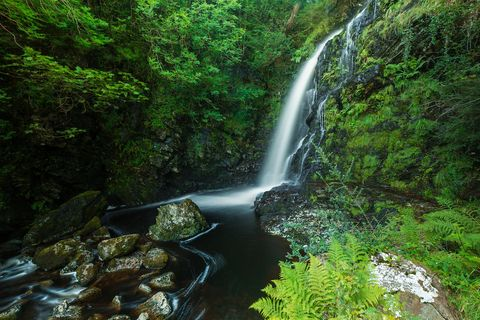 Queens Way Waterfall, Galloway Forest Park, Scotland, UK