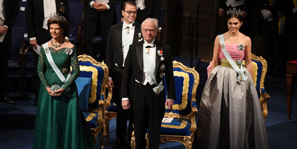 Seven Decades of the Swedish and Norwegian Royal Families Hanging Out with Nobel Prize Laureates