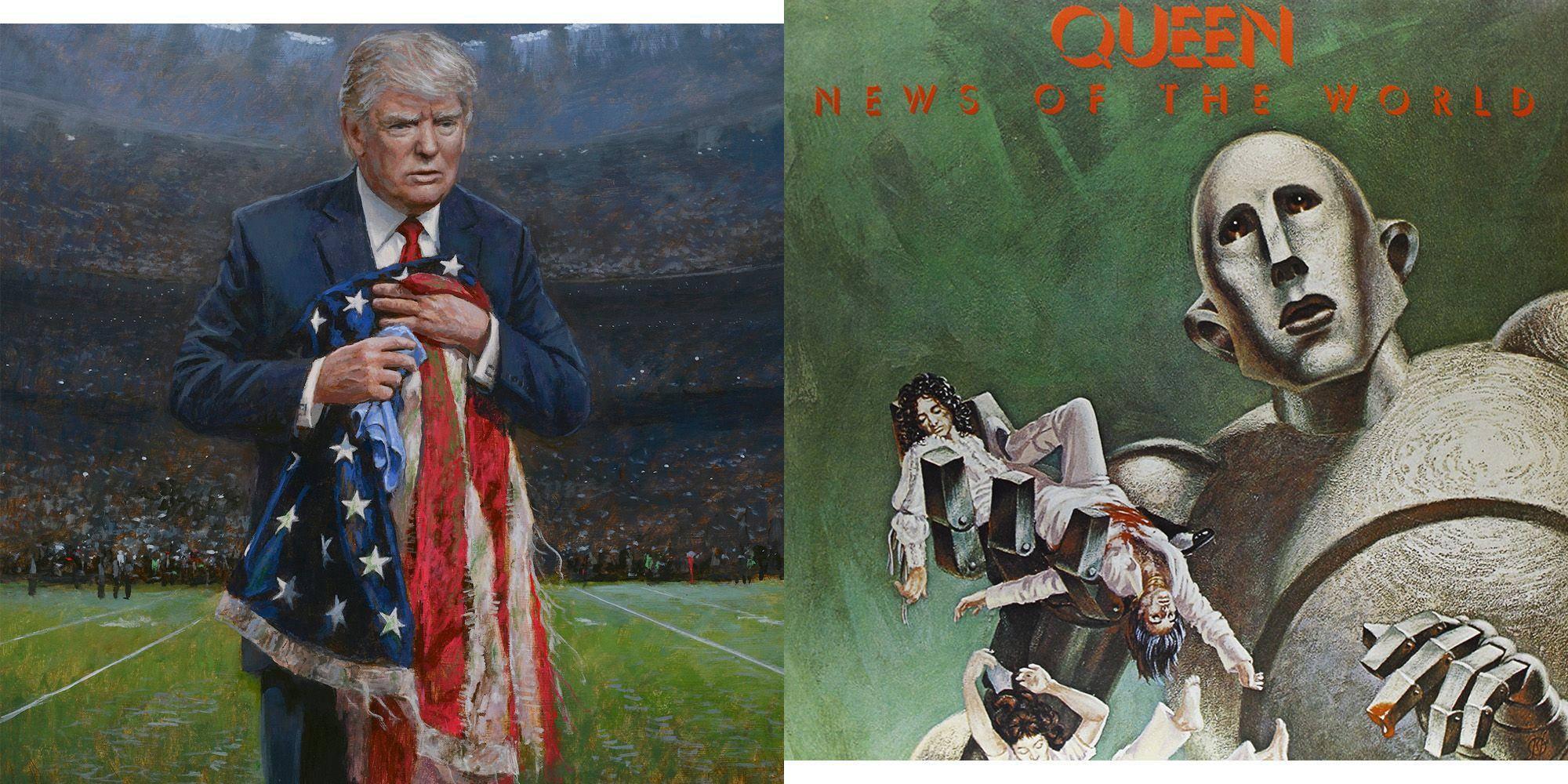 Respect The Flag Art Sean Hannity S Favorite Art Is Terrifying