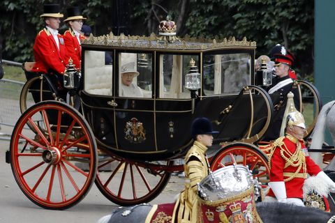 Queen arrives at Trooping the Colour 2019 parade