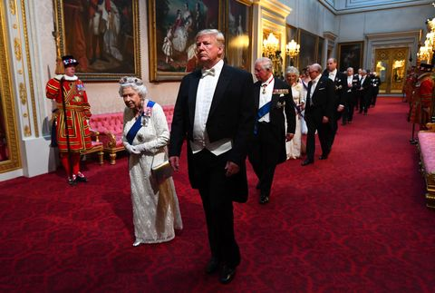 donald trump royal la reine