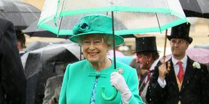 Queen colourful umbrella