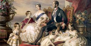 Queen Victoria And Prince Albert With Five Of Their Children' 1846