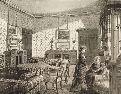 Queen Victoria, Balmoral Castle, the drawing-room