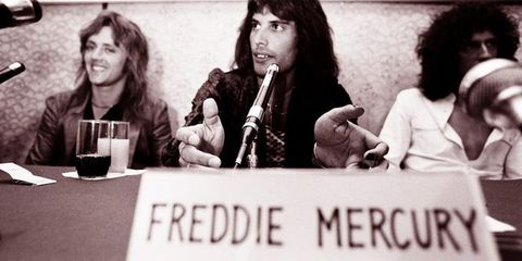 queen at press conference