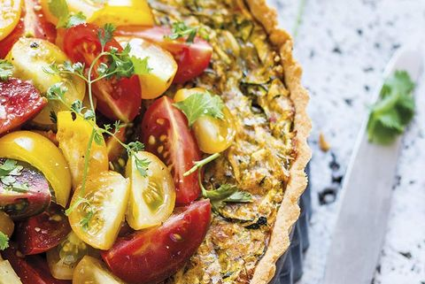 quiche de verduras con tomates