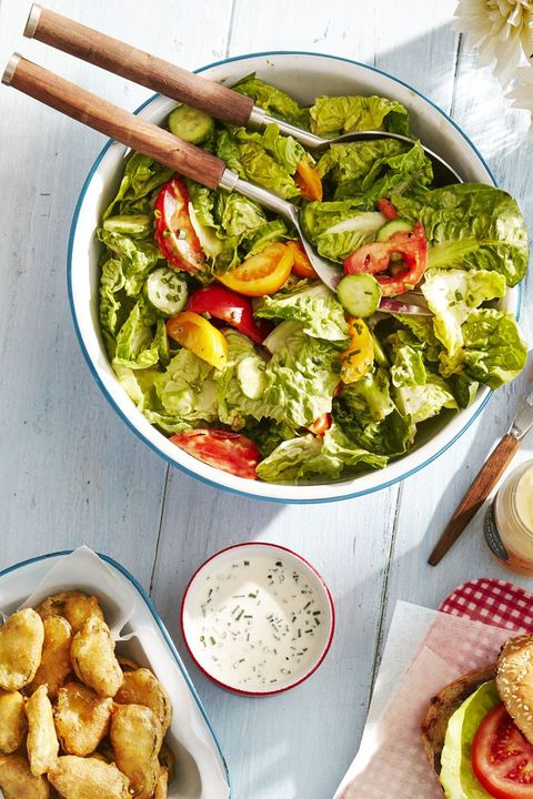 quick dinner ideas tossed salad with green goddess dressing