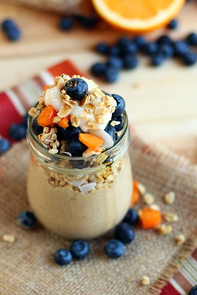 banana chai smoothie parfait