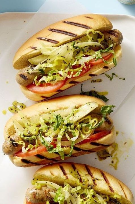 summer dinner ideas   chicago style chicken dogs