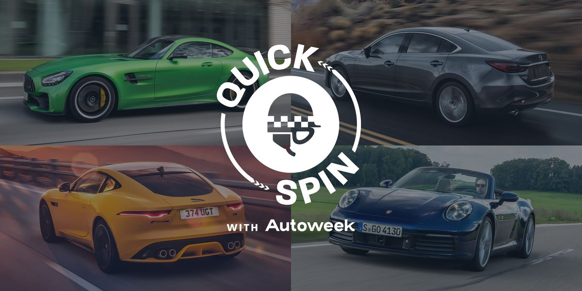 Take a Quick Spin in the Porsche 911 Cabriolet, Mercedes-AMG GT R, Jaguar F-Type R, and Mazda 6