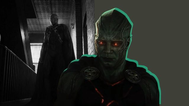 el detective marciano en una escena de la liga de la justicia de zack snyder