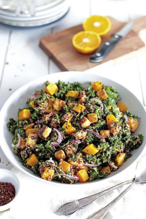 quinoa con kale y calabaza
