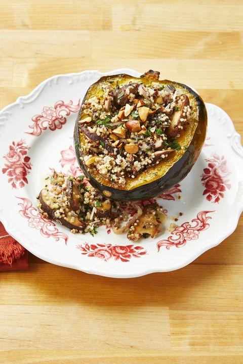 quinoa recipes quinoa and mushroom stuffed acorn squash