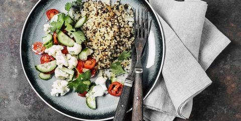 Quinoa with fresh salad