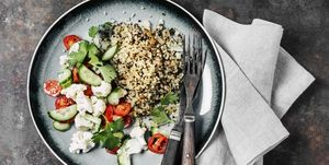 Quinoa with fresh salad