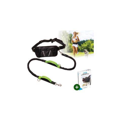 quzi hondenriem hardloopriem elastische reflecterend hardlopen groen zwart hond riem
