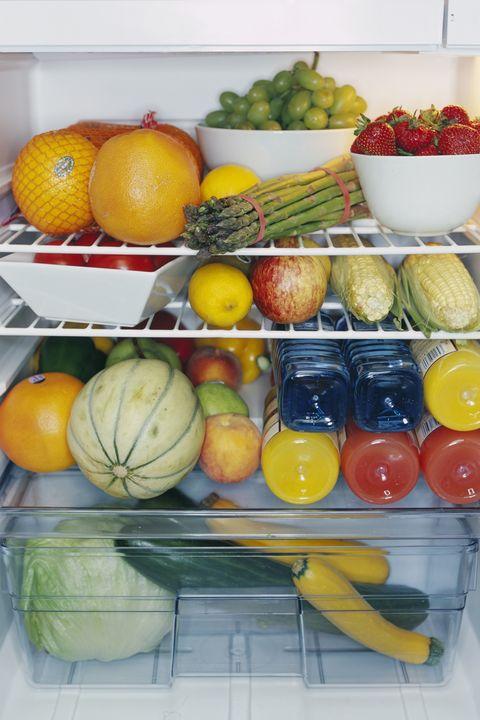 Fridge Full of Fresh Produce