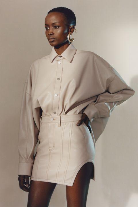 White, Clothing, Fashion, Sleeve, Beige, Uniform, Fashion design, Outerwear, Formal wear, Collar,