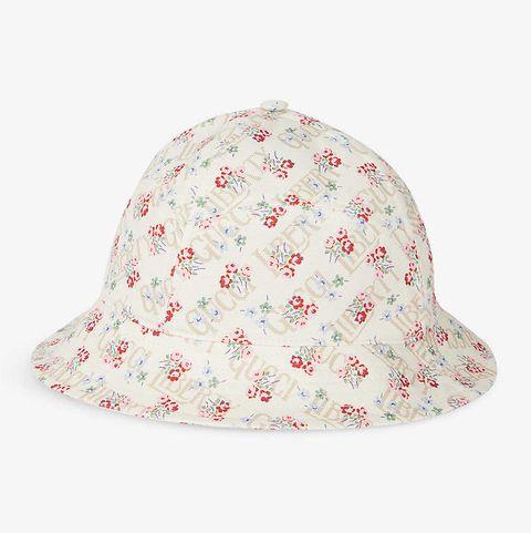gucci gucci x liberty rose 印花漁夫帽