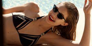 Gigi Hadid in Vogue sunglasses