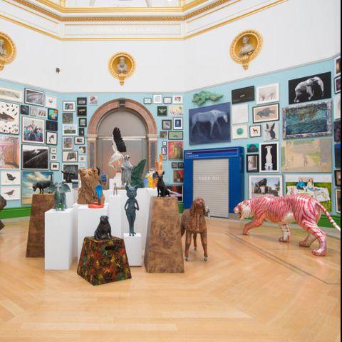 Exhibition, Art gallery, Building, Room, Visual arts, Tourist attraction, Art, Interior design, Museum, Tourism,