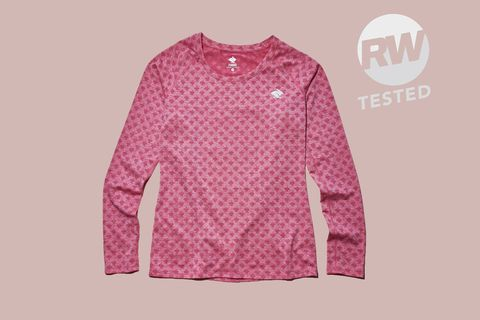 Clothing, Pink, Sleeve, Long-sleeved t-shirt, Outerwear, Sweater, T-shirt, Magenta, Top, Font,