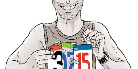 PInning together Race Bibs