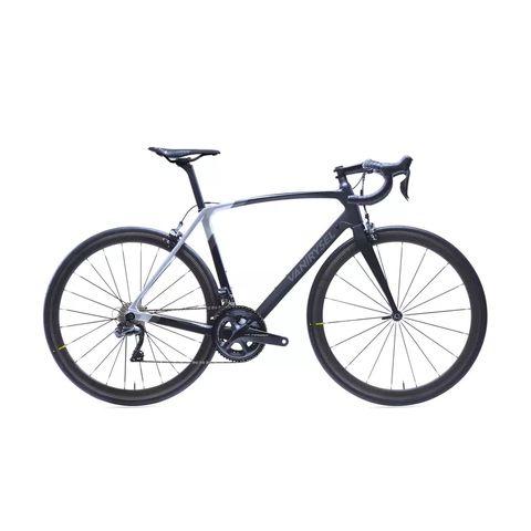 racefiets  wielrenfiets ultra carbon frame shimano ultegra di2 zwartwit