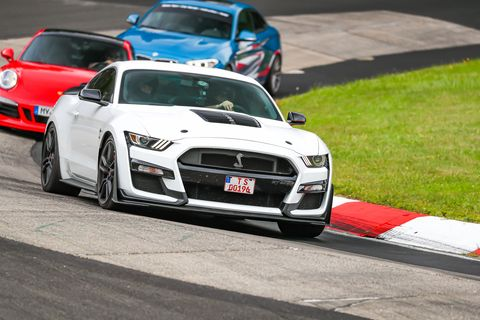 mustang shelby gt500 at the nurburgring