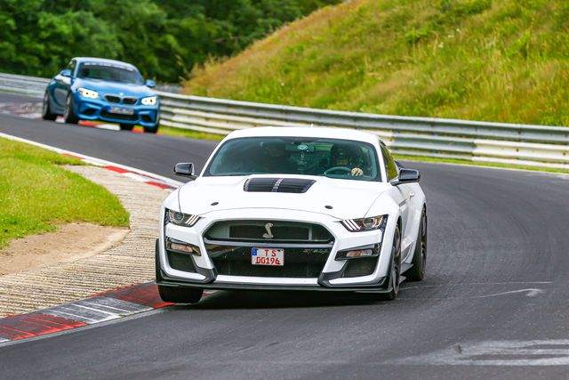 ford mustang shelby gt500 at the nurburgring