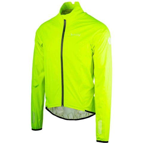 muur fietsjack raceviz geel neon jack wielrennen