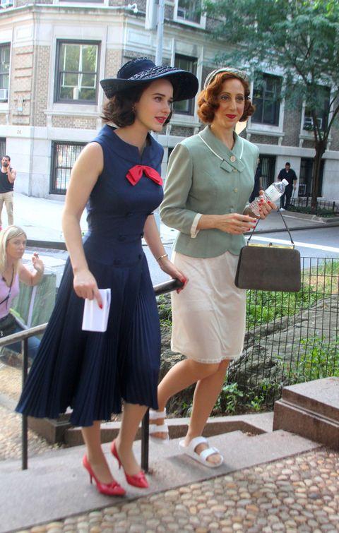 rachel brosnahan the marvelous mrs maisel season 3 behind the scenes on set