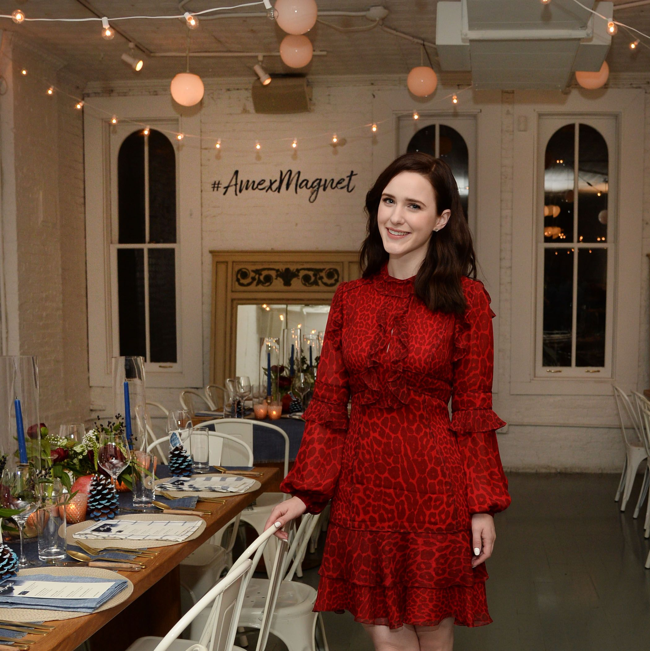 Everything Marvelous Mrs. Maisel's Rachel Brosnahan Learned From Hosting Her First Holiday Party