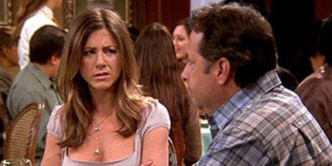 Rachel from Friends on a bad date