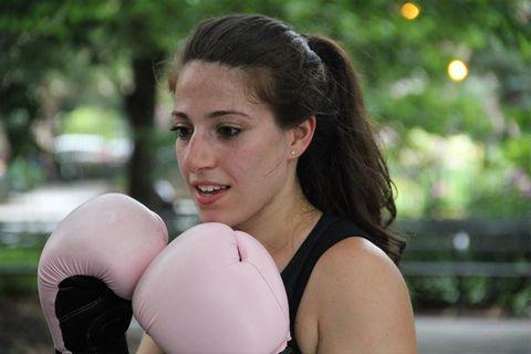 Rachel Kasab boxing