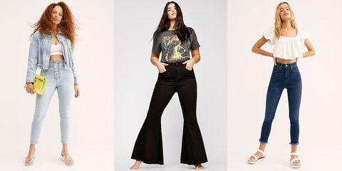 Clothing, Jeans, Denim, Waist, Fashion model, Fashion, Leg, Trousers, Textile, Sleeve,