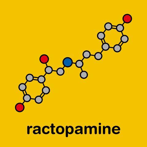 ractopamine feed additive molecule, illustration